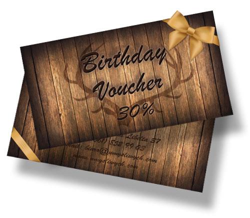 Birthday voucher