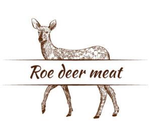 Roe deer meat