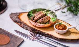 Venison lula kebab