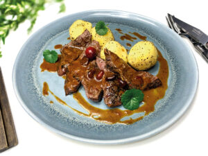 Deer meat Greater Poland dish