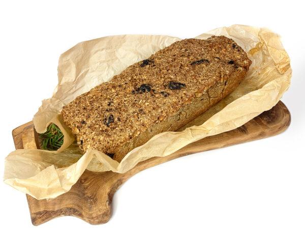 Chleb domowy wegański ze śliwkami - 250 g