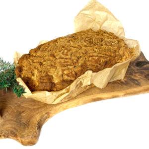 Chleb wegański z oliwkami