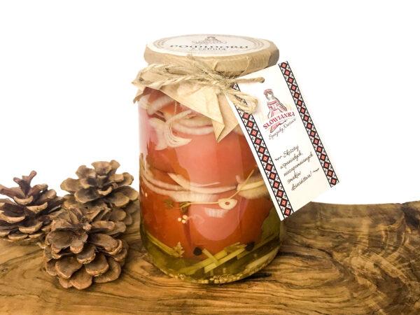 Pomidory z cebulą marynowane