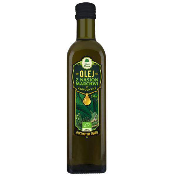 Olej z Nasion Marchwi tłoczony na zimno - 250 ml
