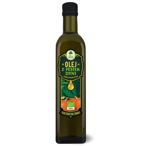 Olej z Pestek Dyni tłoczony na zimno - 500 ml