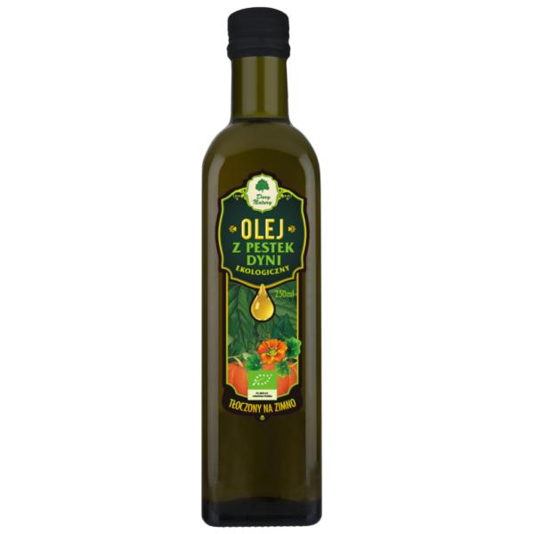 Olej z Pestek Dyni tłoczony na zimno - 250 ml