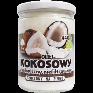 Olej Kokosowy tłoczony na zimno - 440 ml