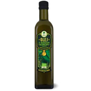 Olej z Nasion Konopi Siewnych tłoczony na zimno - 500 ml