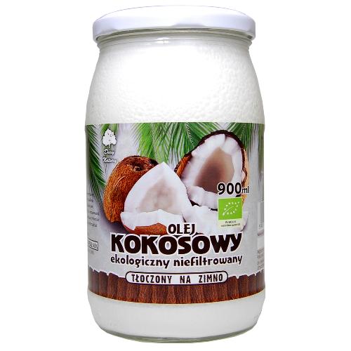 Olej Kokosowy tłoczony na zimno - 900 ml