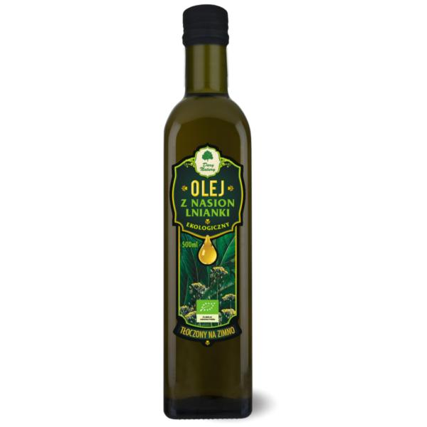 Olej z Lnianki tłoczony na zimno - 500 ml