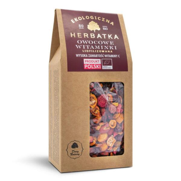 """Herbatka """"Owocowe Witaminki"""" Liofilizowana - 80 g"""